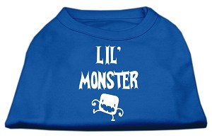 Lil Monster Screen Print Shirts Blue Sm (10)